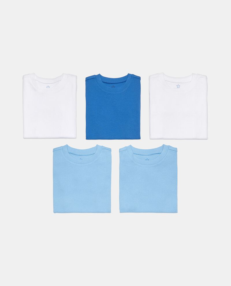 Pack 5 t-shirt in costina puro cotone bambino cover