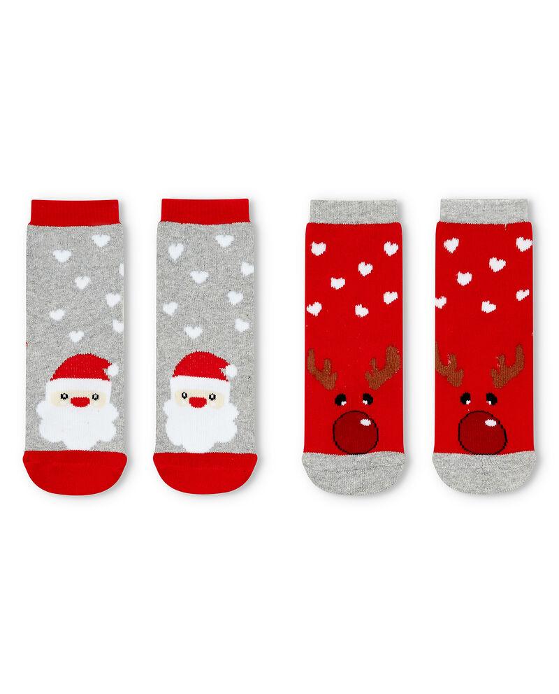 Set due calze antiscivolo Natale