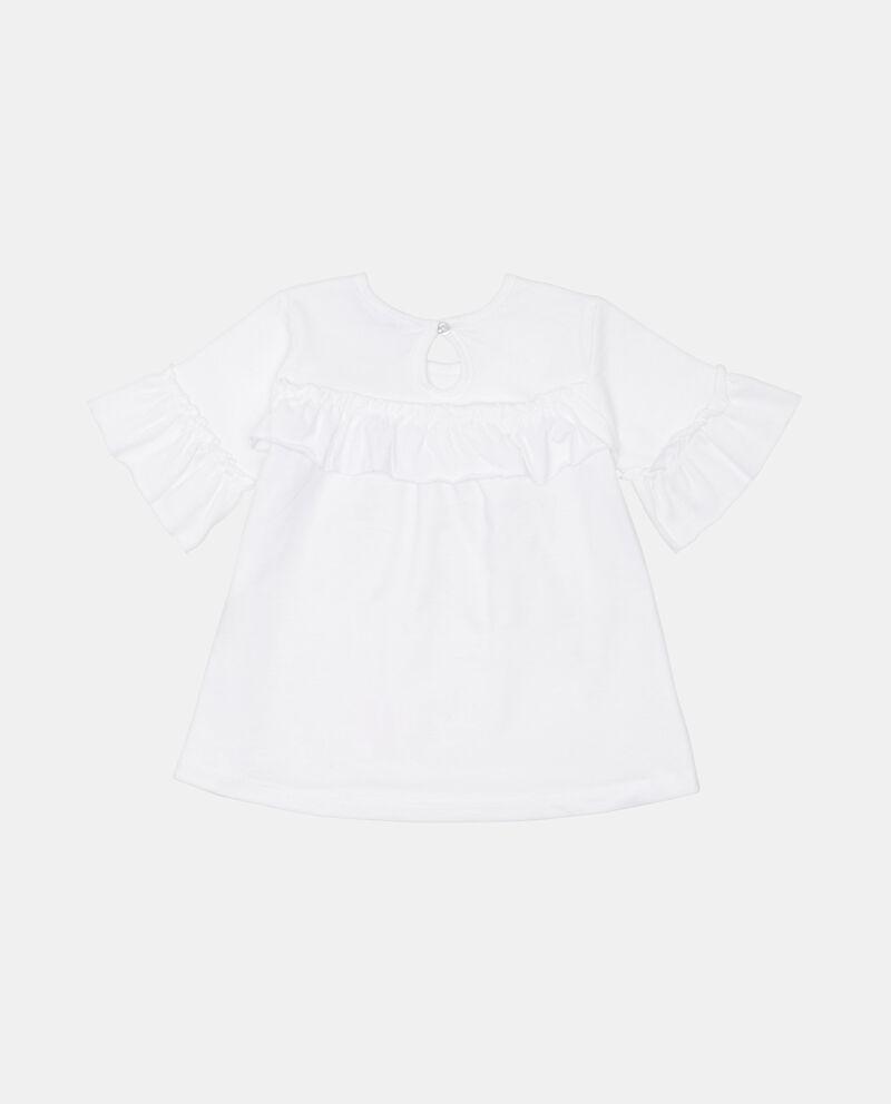 T-shirt puro cotone con volant