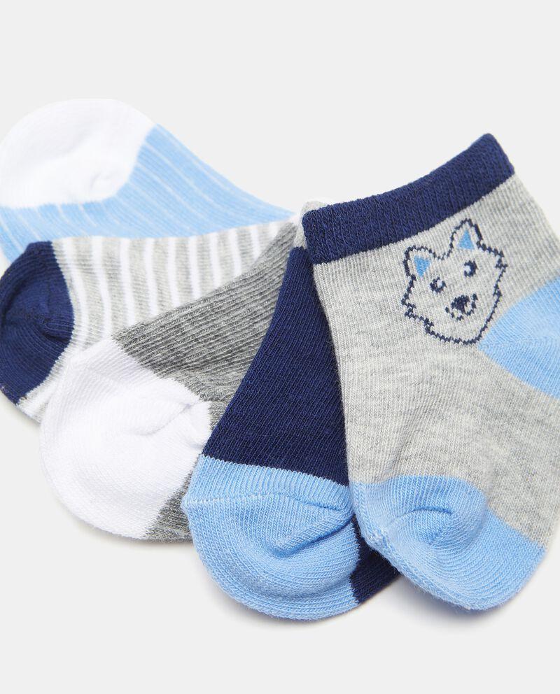 Set di 5 paia di calzini di cotone organico neonato single tile 1