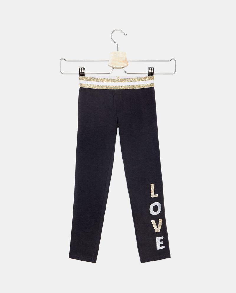 Pantaloni con fascia in glitter bambina