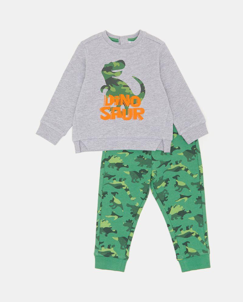 Set jogging con felpa e pantaloni in cotone elasticizzato neonato
