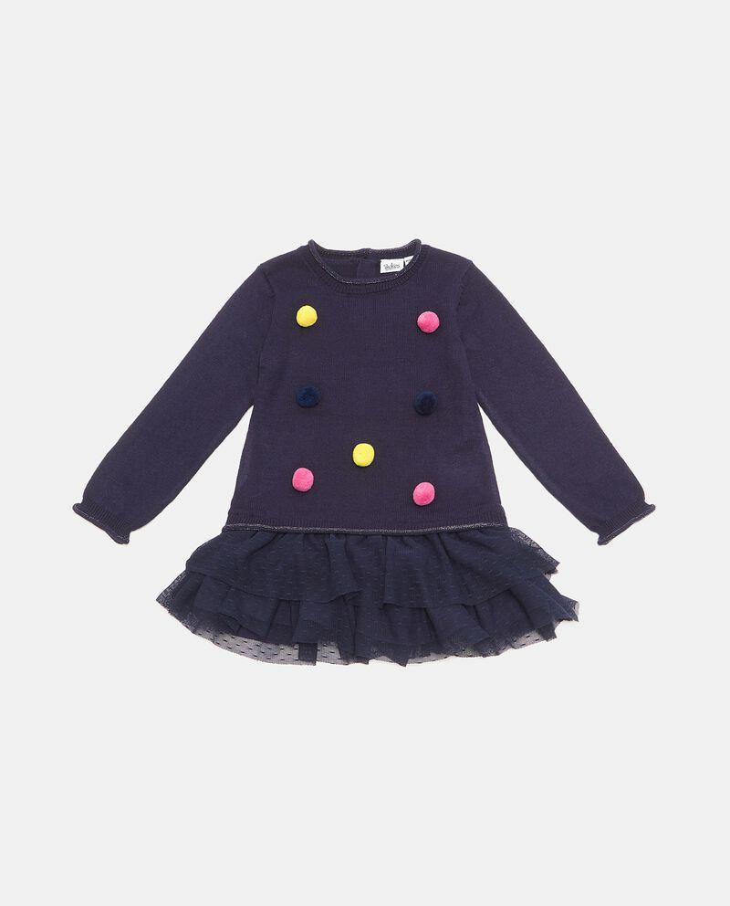 Vestito con pon pon neonata