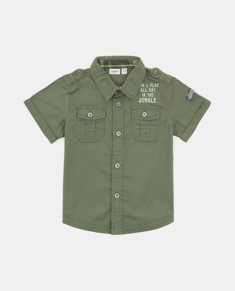 Camicia in puro cotone neonato cover