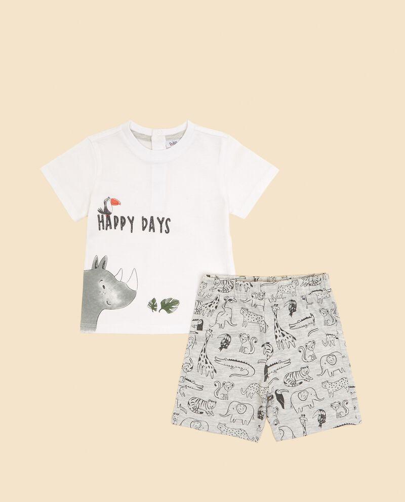 Set con t-shirt e bermuda neonato