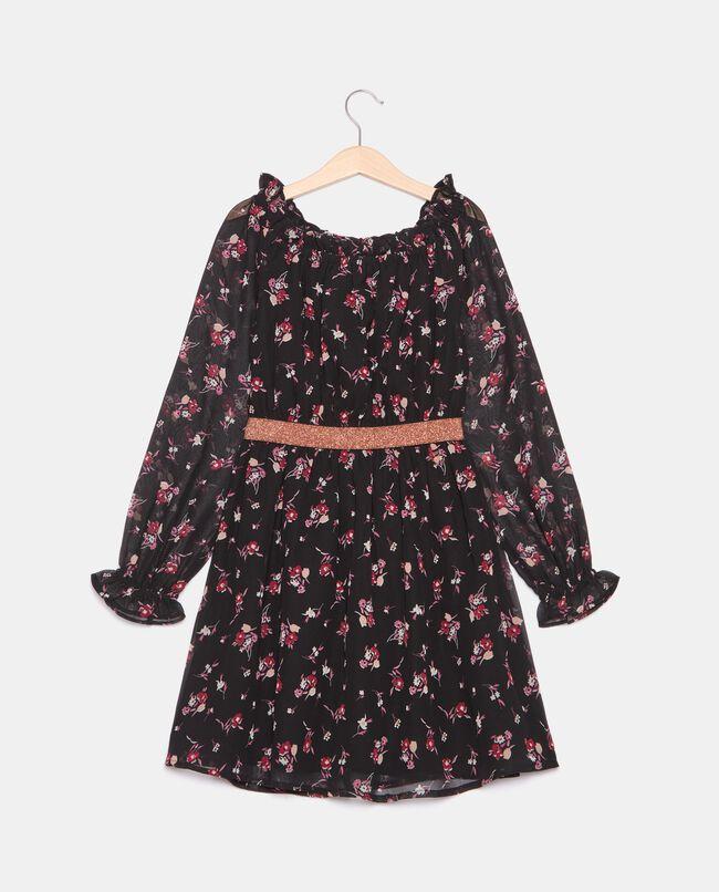 Vestito in georgette stampata ragazza carousel 0