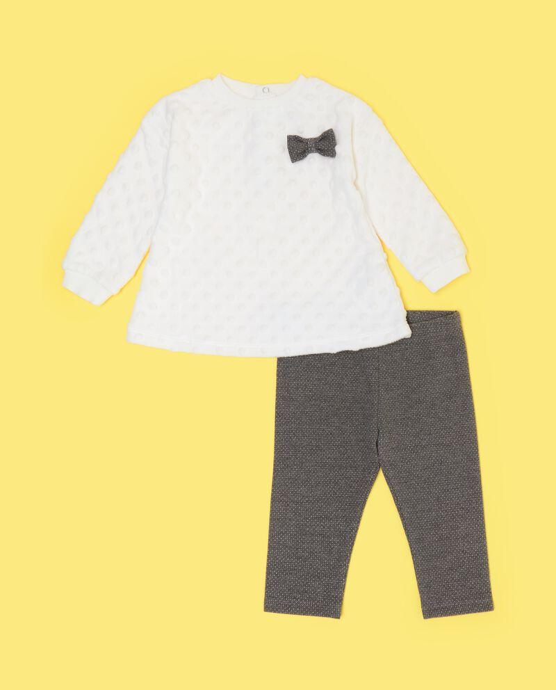 Set jogging felpa e leggings neonata