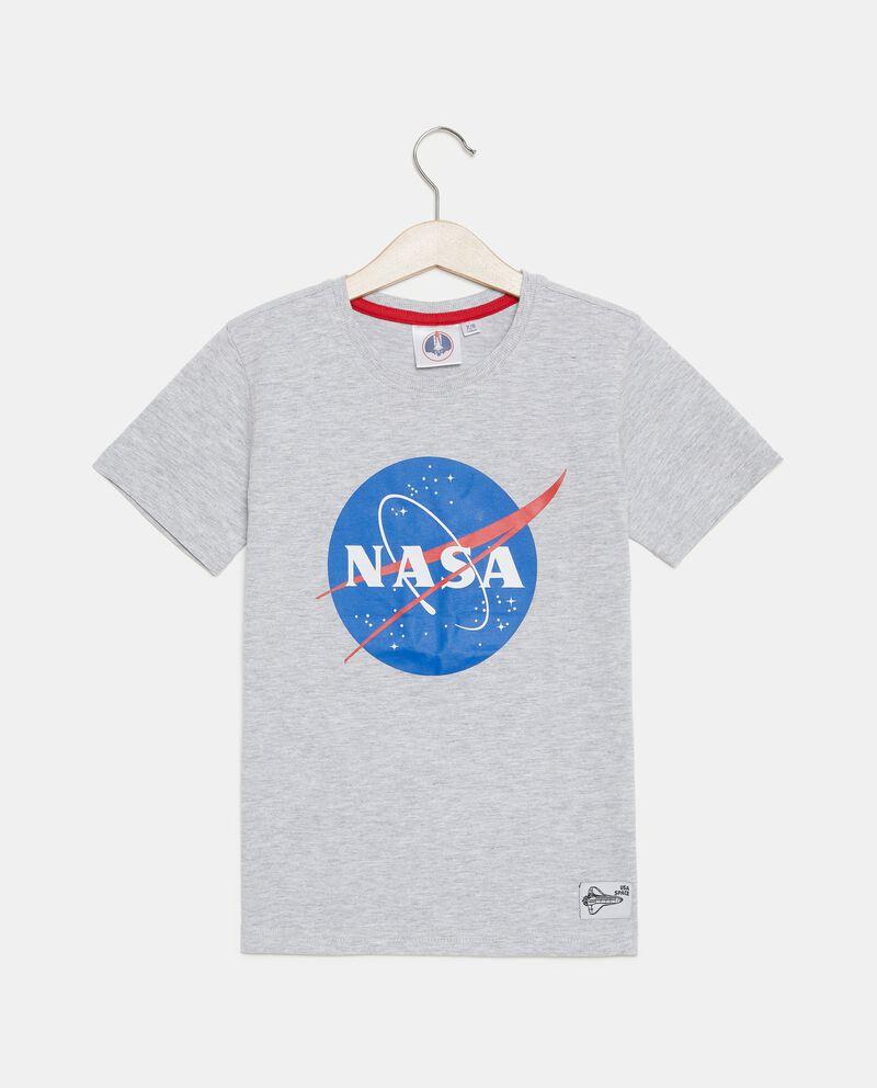 T-shirt in cotone organico con stampa Nasa bambino