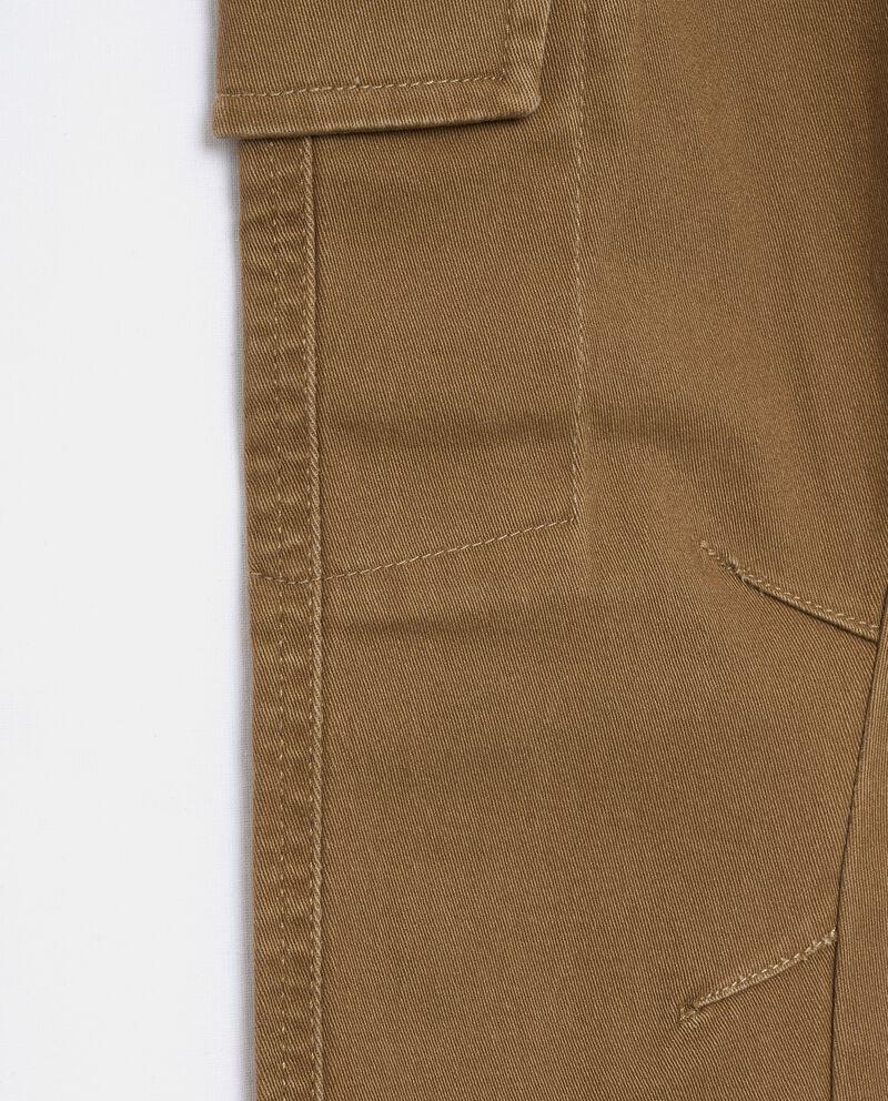 Pantaloni modello cargo tinto in capo bambino single tile 1