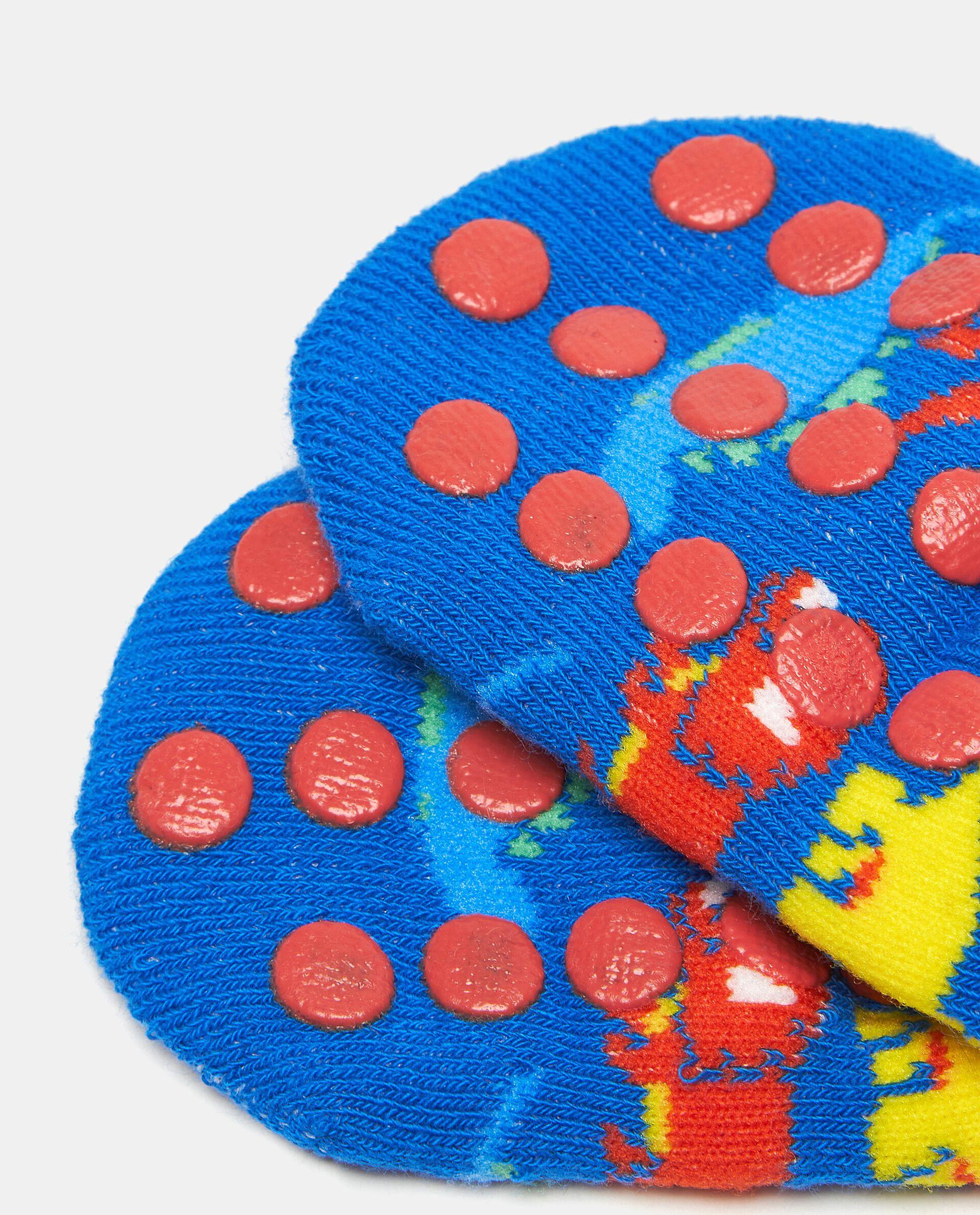 Calzini antiscivolo in fantasia di cotone elasticato neonato