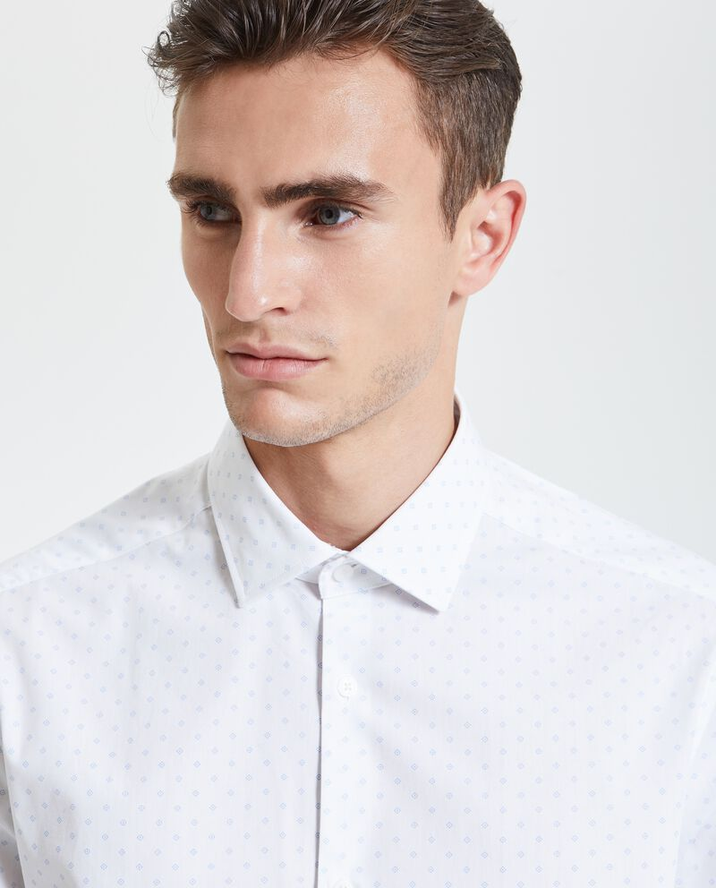Camicia con micro fantasia uomo