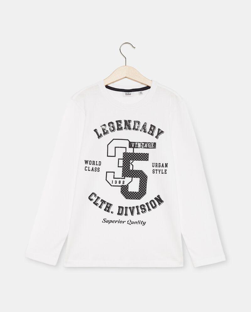 T-shirt cotone organico a maniche lunghe ragazzo cover