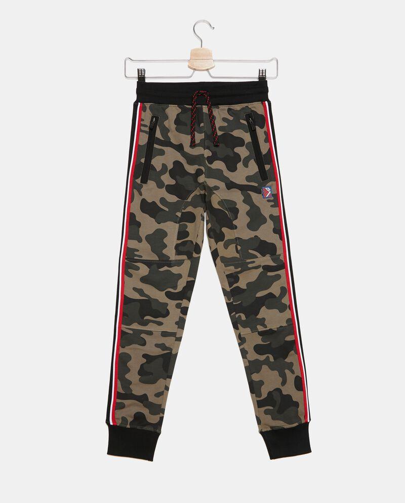 Pantaloni con bande laterali e fantasia ragazzo
