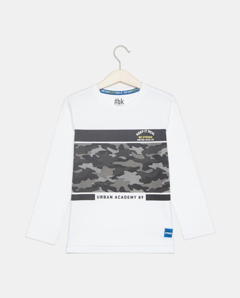 T-shirt stampa militare bambino