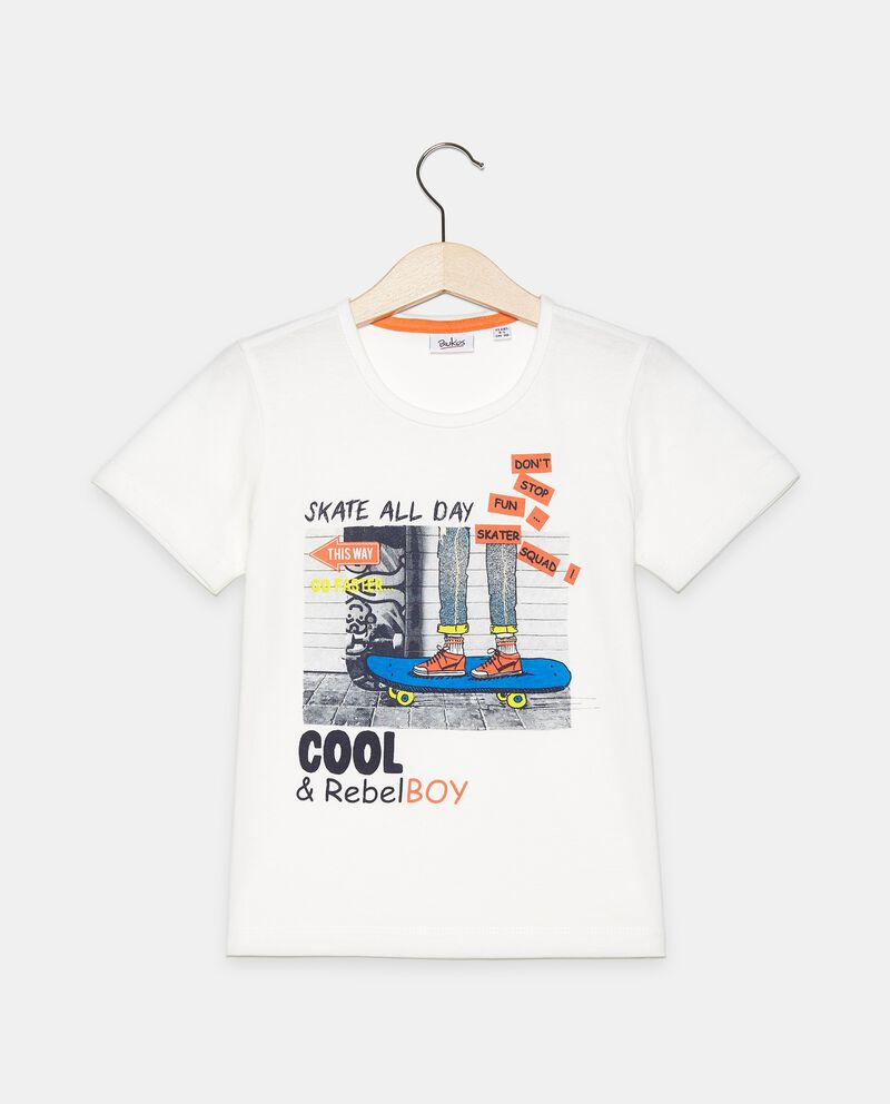 T-shirt stampata di cotone organico jersey bambino