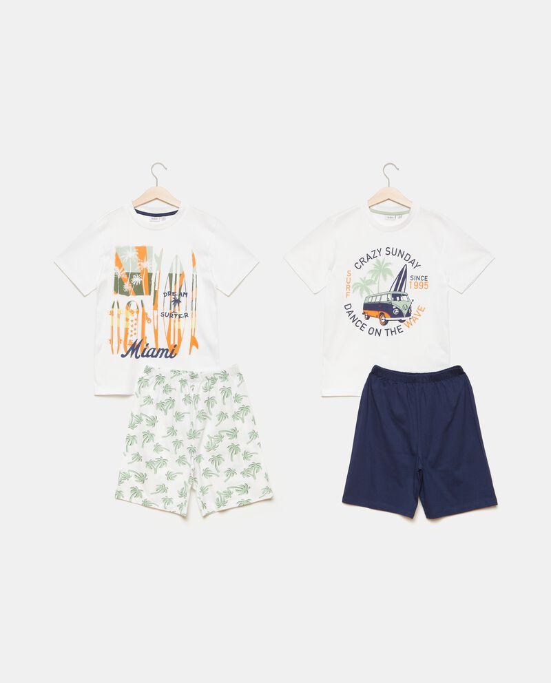 Bipack set pigiami stampati puro cotone bambino