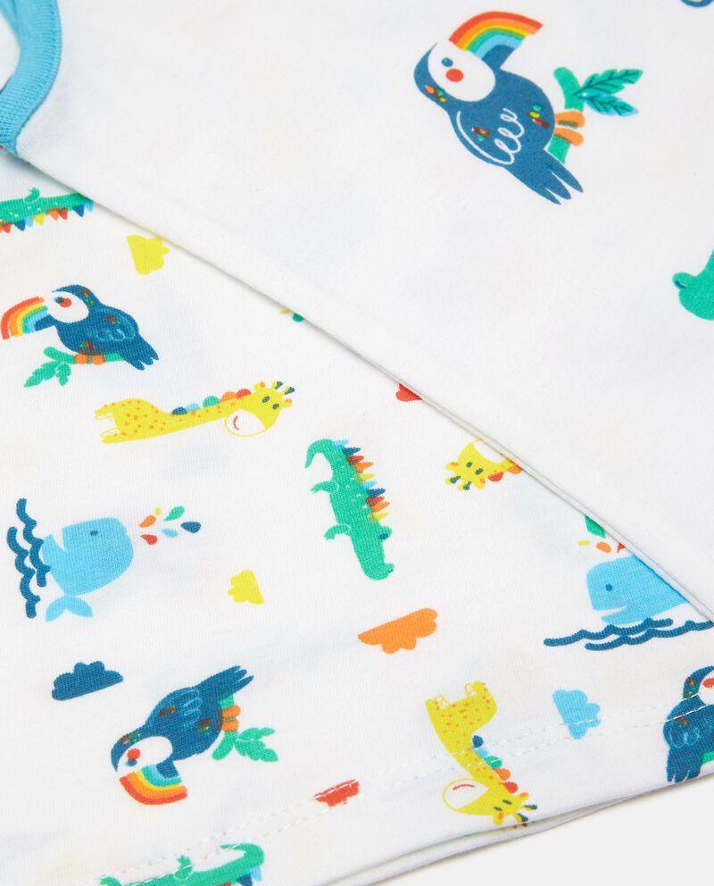 Bipack 2 pigiami in cotone jersey neonato single tile 1