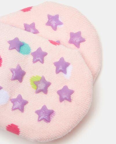 Calzini a pois in cotone elasticato neonata