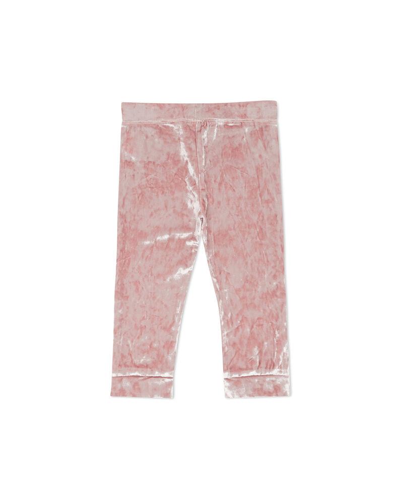 Pantaloni tinta unita effetto velluto