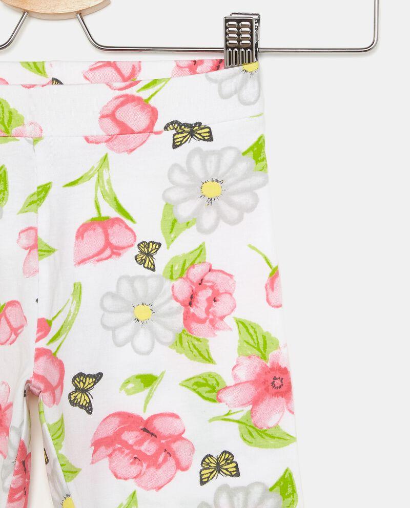 Leggings con fantasia fiori single tile 1