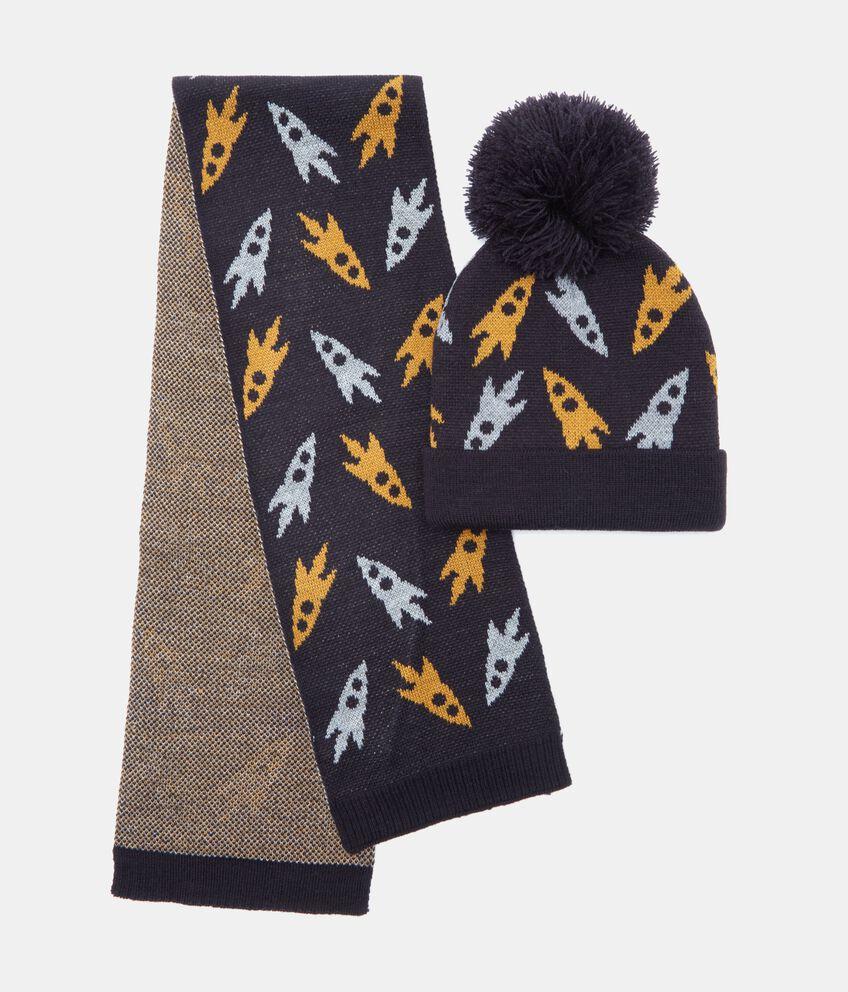 Set cappello e sciarpa in fantasia bambino