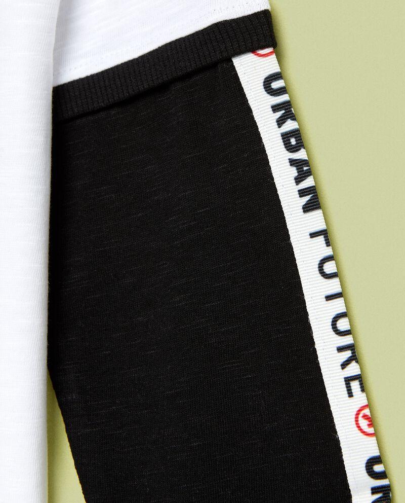 Maglia con maniche a contrasto single tile 1