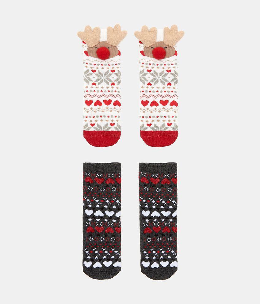 Bipack calzini natalizi con filo lurex