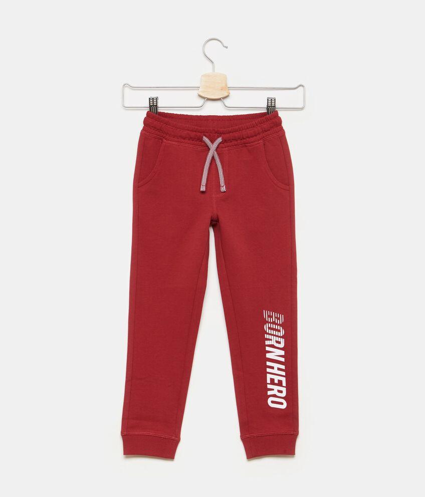 Pantaloni in cotone coulisse contrasto