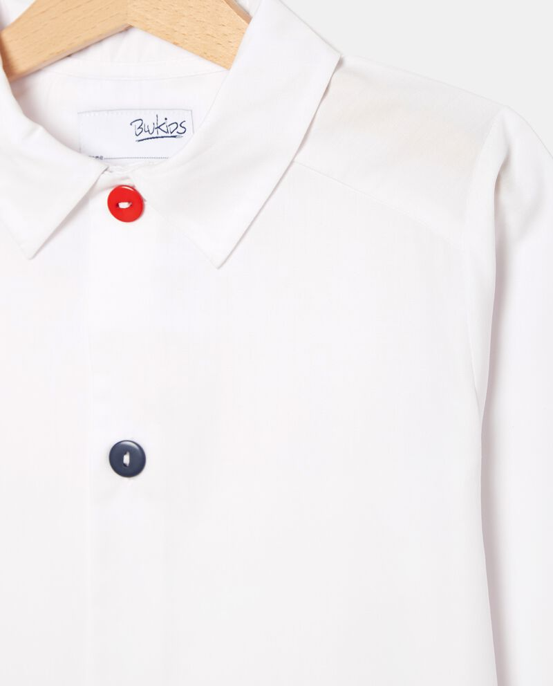 Grembiule con bottoni in tinta unita bambino single tile 1