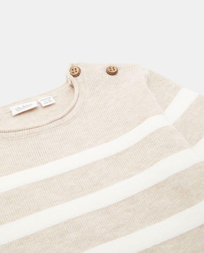 Pullover in puro cotone con motivo a righe neonato single tile 1