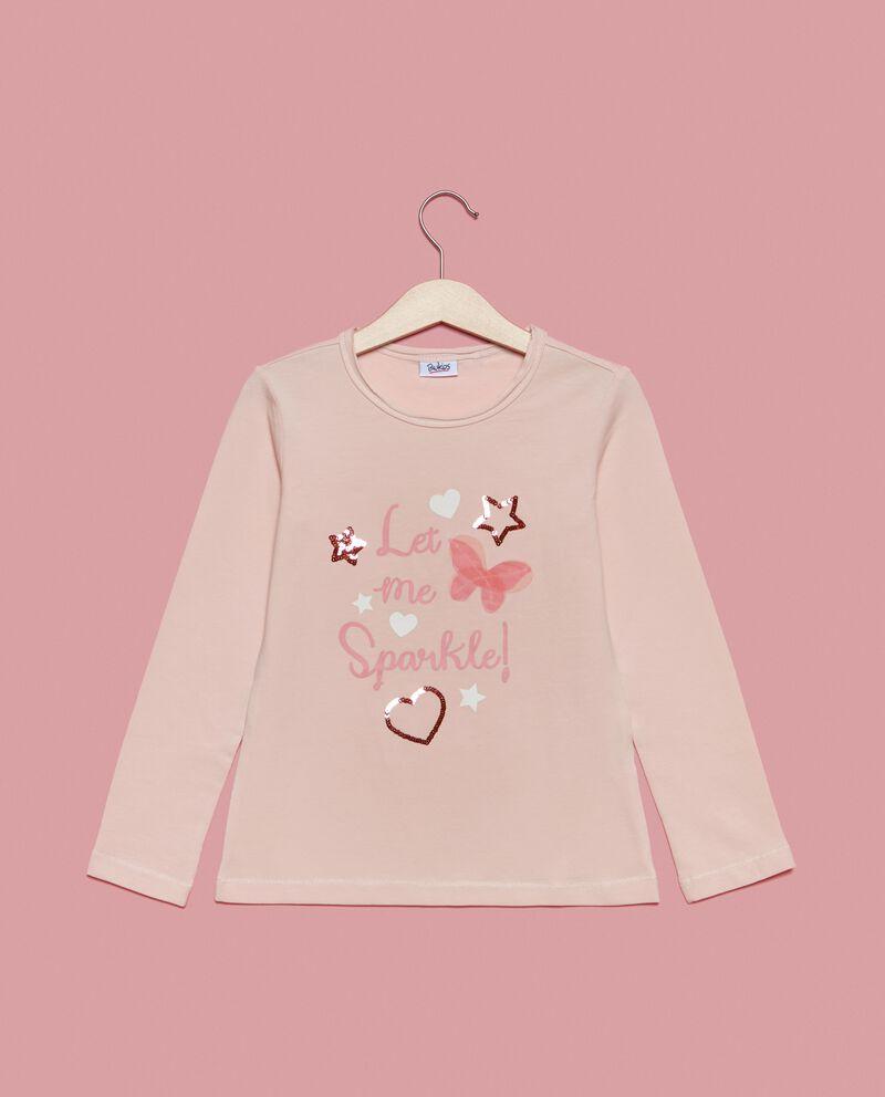 T-shirt maniche lunghe con lettering bambina