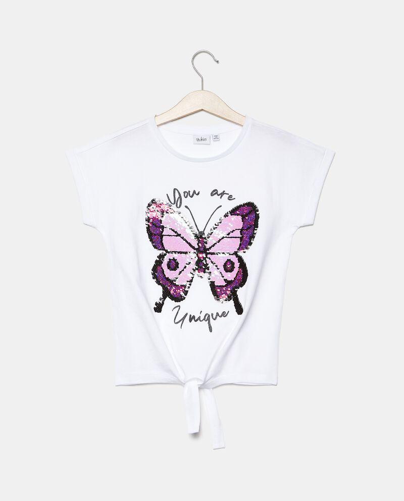 T-shirt con paillettes ragazza