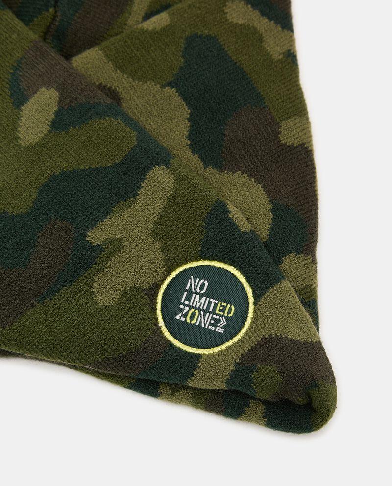 Scaldacollo intrecciato con stampa camouflagedouble bordered 1