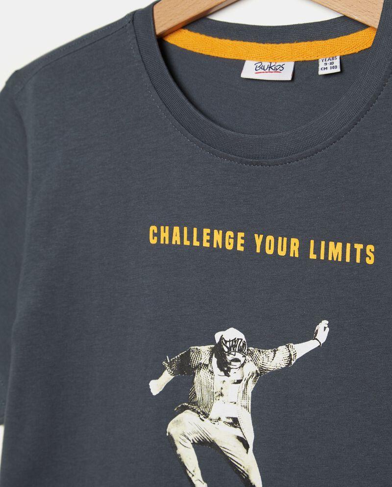 T-shirt puro cotone con stampa ragazzo single tile 1