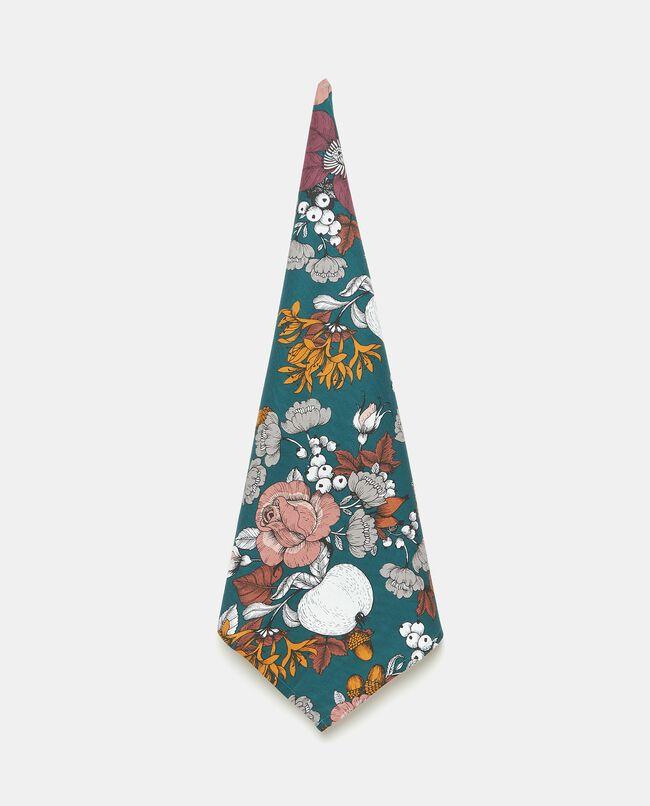 Strofinaccio in puro cotone con fantasia floreale