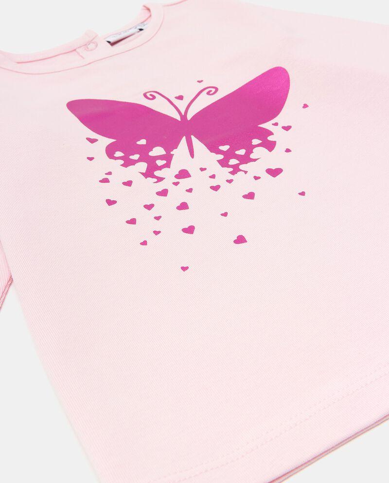 Maglia con stampa farfalla in cotone biologico neonata
