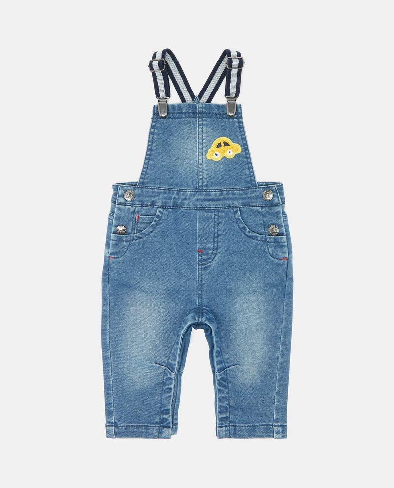 Salopette in denim neonato