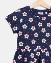 Vestito di puro cotone con fantasia fiori bambina