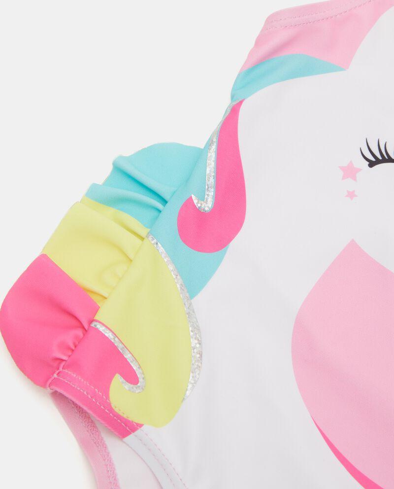 Costume intero con stampa unicorno bambina