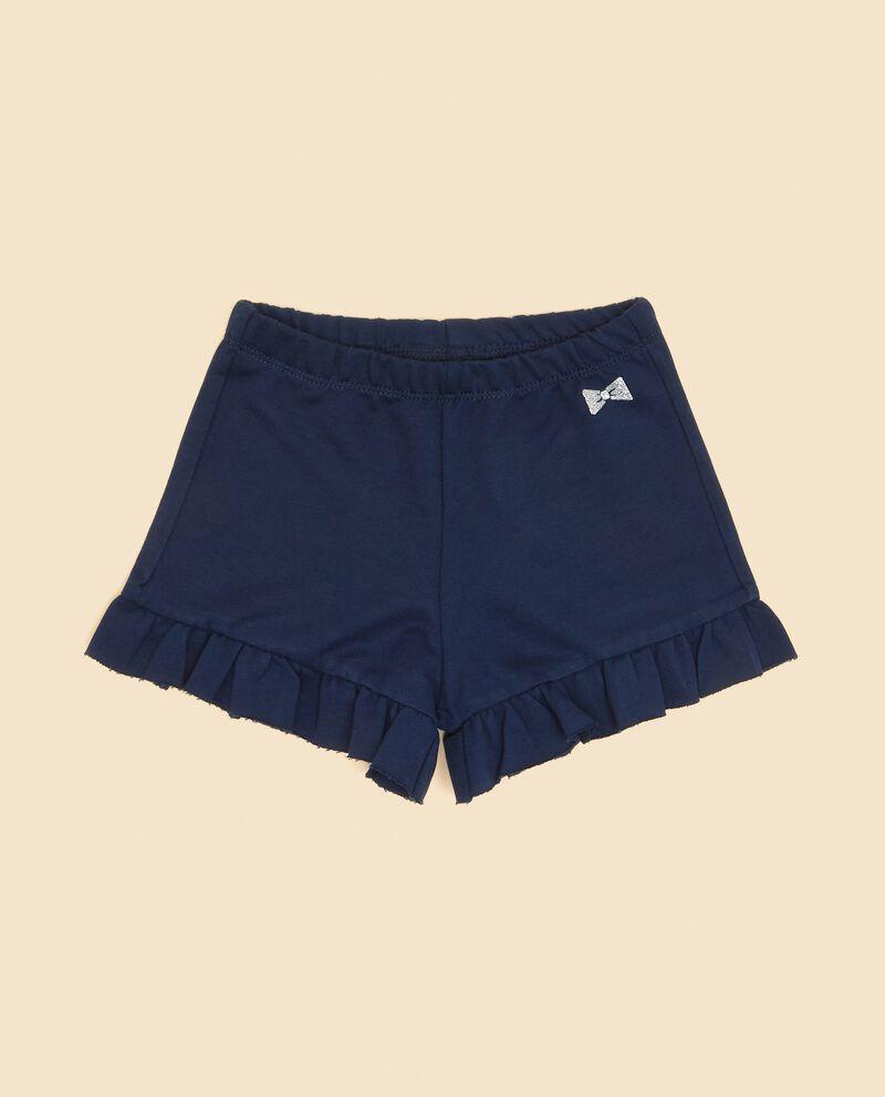 Shorts con volant in puro cotone neonata cover