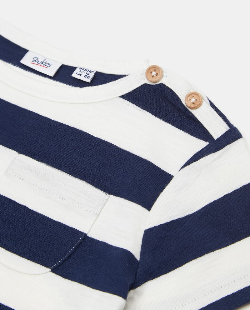 T-shirt in cotone organico rigata neonato