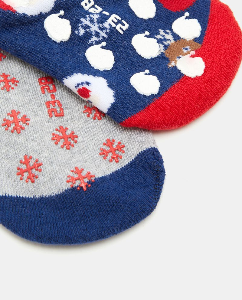Bipack calzini in cotone biologico antiscivolo bambino