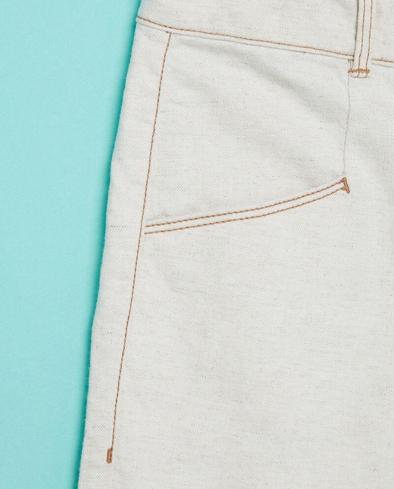 Pantaloni effetto denim tinta unita ragazzo
