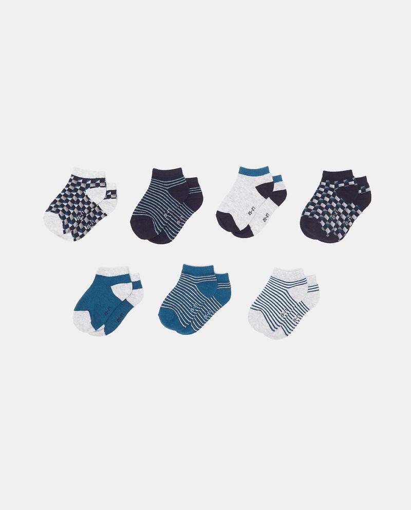 Set con 7 paia di calzini cotone organico bambino cover