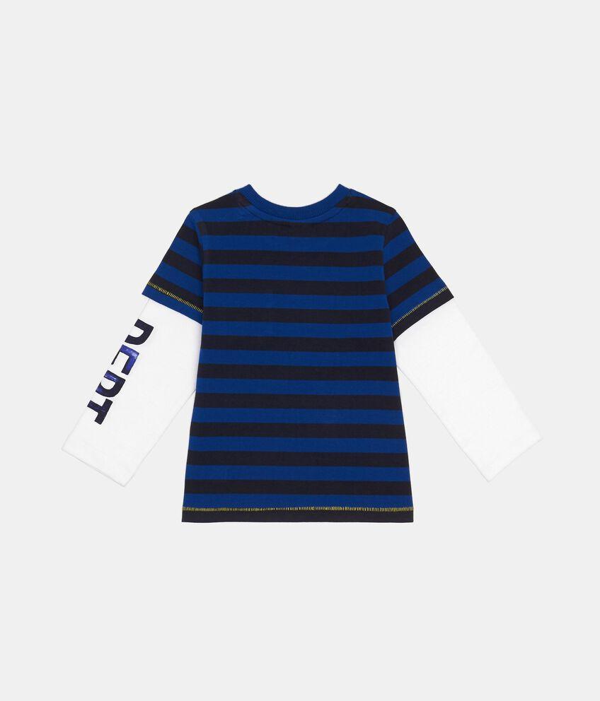 T-Shirt manica lunga in puro cotone a righe