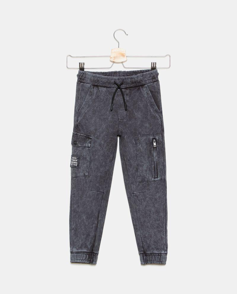 Pantalone cargo in cotone organico lavaggio stone bambino cover
