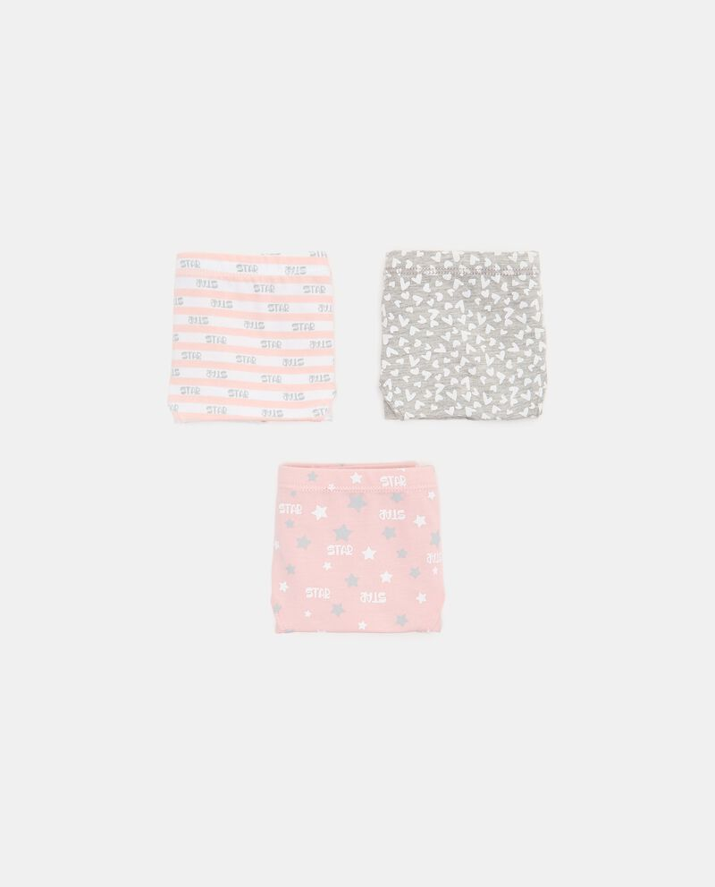 Set con 3 slip in cotone biologico stretch ragazza cover