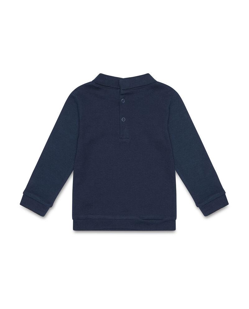 T-shirt cotone tinta unita con collo alto