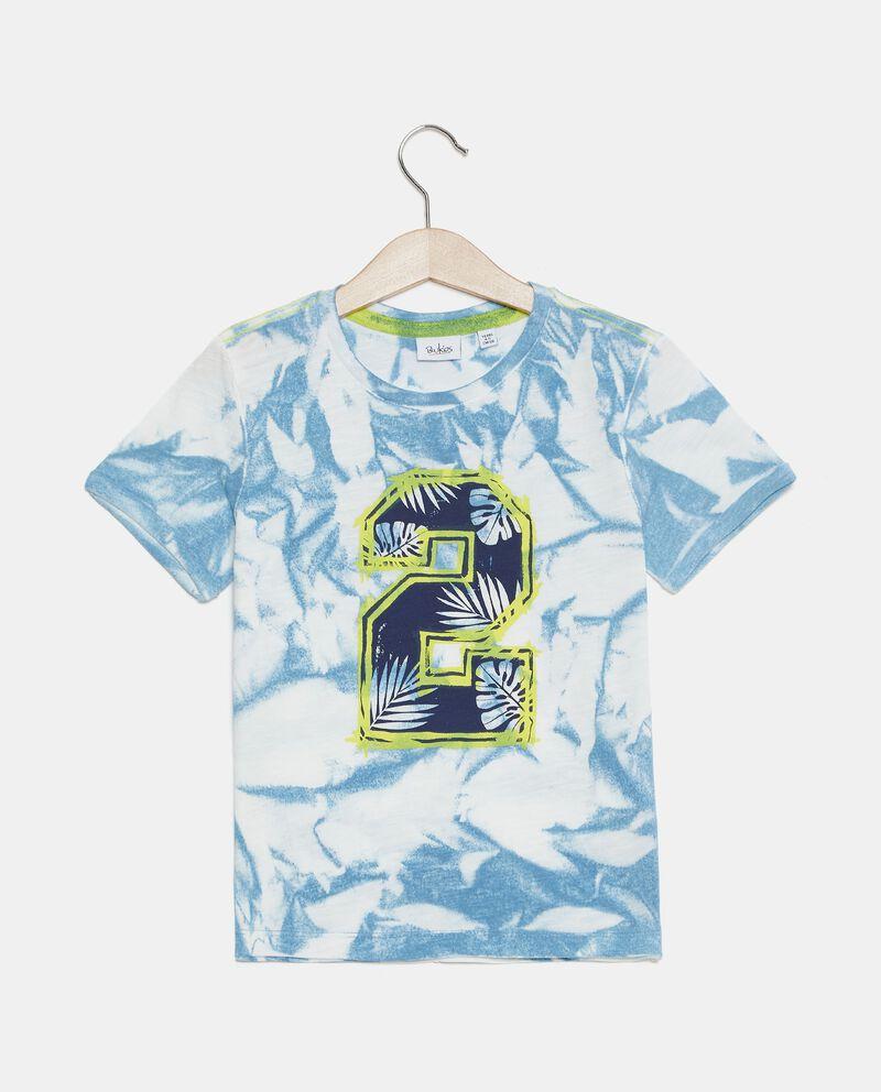 T-shirt in cotone organico stampata bambino cover