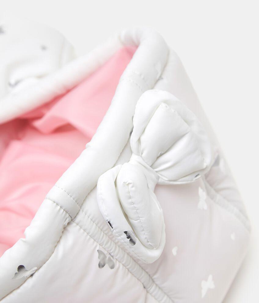 Piumino smanicato con stampa laminata neonata